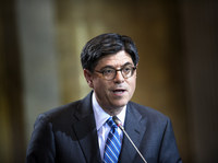 Secretary of the Treasury Jack Lew speaks during a news conference at the U.S. Department of the Treasury earlier this month.