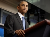 President Barack Obama delivered remarks on the Trayvon Martin case from the White House briefing room Friday.