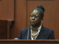 Trayvon Martin's mother, Sybrina Fulton, during her testimony Friday in Sanford, Fla.