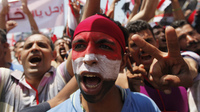 Thousands of protesters who oppose Egyptian President Mohammed Morsi were in Cairo's Tahrir Square on Sunday.
