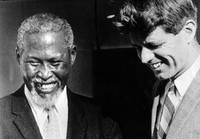 A Meeting Of Great Minds: During his 1966 visit to South Africa, Sen. Robert F. Kennedy met with anti-apartheid activist Chief Luthuli and later spoke publicly about their meeting. Because of a government ban on media coverage of Luthuli, it was the first news many had of their leader in more than five years.
