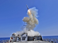 A Tomahawk cruise missile lifts off from the guided-missile destroyer USS Barry (DDG 52) in 2011. If a U.S. strike against Syria goes ahead, what comes next?