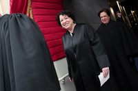 """Supreme Court Justice Sonia Sotomayor was named by 5 percent of respondents as """"the most important Hispanic leader in the country today."""""""