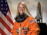 Astronaut Karen Nyberg, who's done some hairy videos.