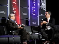 "Political theorist and author Benjamin R. Barber (left) spoke at the CityLab summit this week in New York. He is proposing the formation of a ""World Parliament of Mayors."""