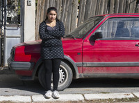 Leonarda Dibrani, 15, on Friday in Mitrovica, Kosovo.