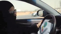 An image taken from a video from the Oct. 26th Driving campaign shows a Saudi woman driving in Riyadh Saturday. A Saudi woman said she drove to the grocery store without being stopped or harassed by police as part of a protest against a ban on women drivers.