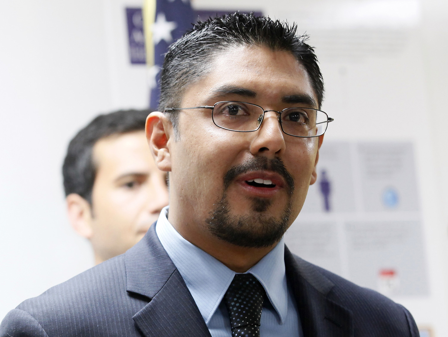 Sergio Garcia speaks at The Coalition for Humane Immigrant Rights of Los (CHIRLA) news conference in Los Angeles in August.