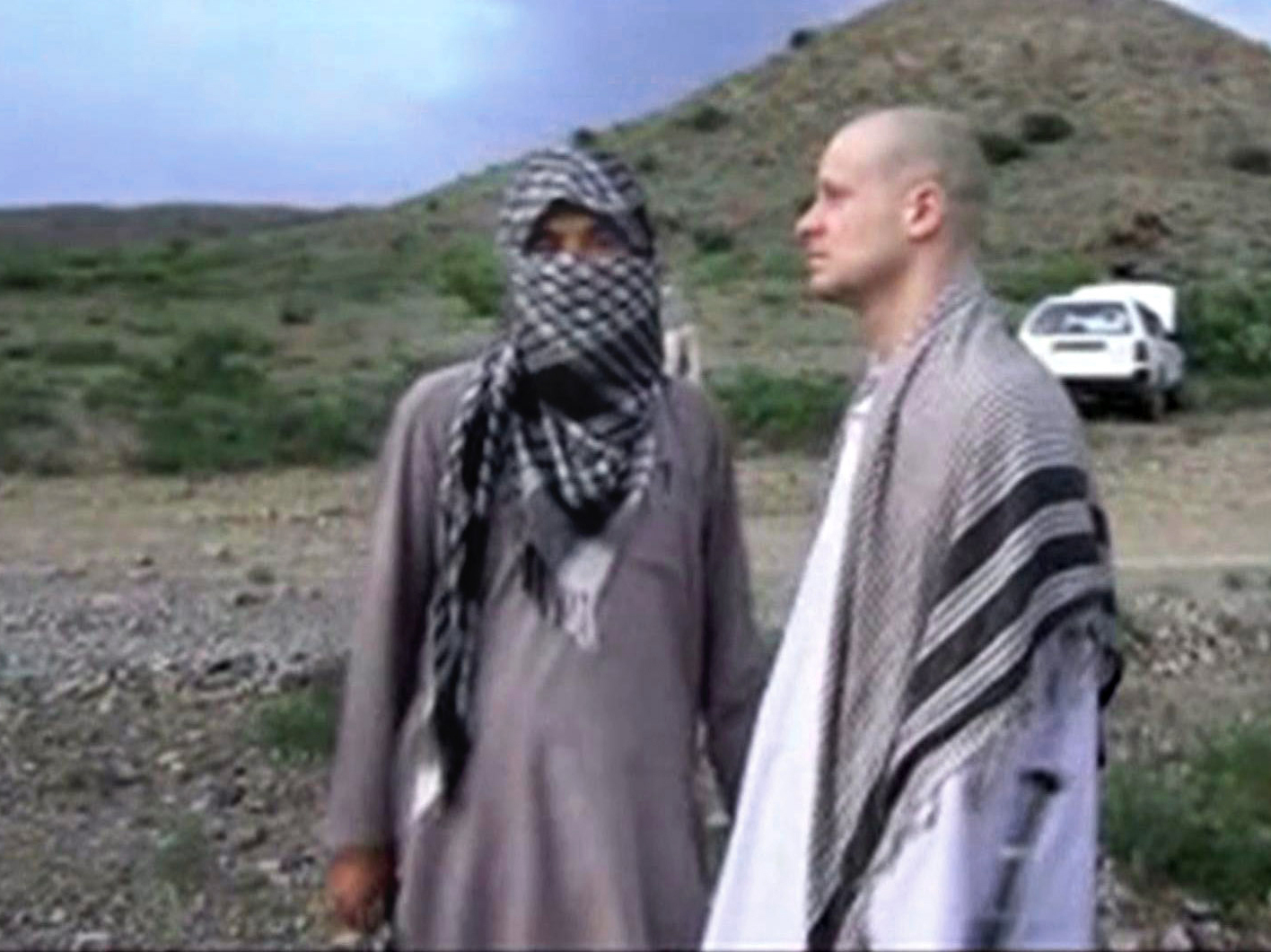 A video frame grab of Army Sgt. Bowe Bergdahl released by the Voice Of Jihad website, shows the soldier during his captivity.