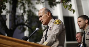 Los Angeles County Sheriff Lee Baca announces his unexpected retirement on Jan. 7, 2014 in Los Angeles.