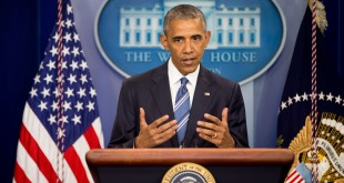President Obama speaks in the White House briefing on Thursday following the Supreme Court decision on immigration.
