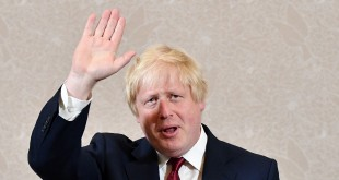Brexit campaigner and former London mayor Boris Johnson waves after addressing a press conference in central London on Thursday. Johnson said  he will not stand to succeed Prime Minister David Cameron, as had been widely expected.