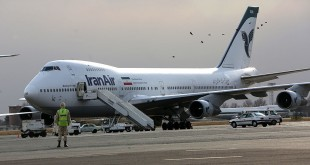 An Iran Air Boeing 747 passenger plane sits on the tarmac of the domestic Mehrabad airport in the Iranian capital Tehran in 2013.