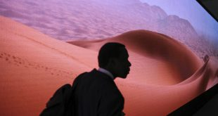 A participant visits the Africa pavilion Nov. 9 at a UN climate conference, in Marrakech, Morocco. President-elect Donald Trump's transition team has asked the Department of Energy to provide the names of all employees who attended such conferences.