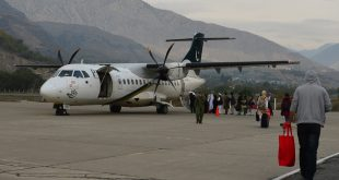 An image from 2015 shows a Pakistan International Airlines plane preparing to leave Chitral for Islamabad. A different plane flying that same route crashed Wednesday.