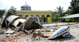 Houses of worship were destroyed by the 6.5-magnitude earthquake that struck Aceh Province, Indonesia, on Wednesday.