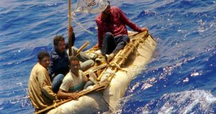 Cuban refugees floating in heavy seas 60 miles south of Key West, Florida in 1994. The Obama administration is ending a two-decades old policy of allowing Cuban refugees to stay in the U.S. if they can make it to U.S. soil.