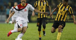 Timor Leste's Patrick Fabiano, (far left) was one of the 12 players declared ineligible by the Asia Football Confederation disciplinary committee.