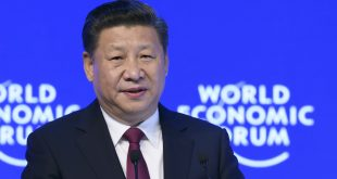 China's President Xi Jinping delivers a speech on the opening day of the World Economic Forum on Tuesday in Davos, Switzerland. The global elite have begun a week of earnest debate and Alpine partying in the Swiss ski resort, in a week bookended by two presidential speeches of historic import — Xi's remarks and U.S. President-elect Donald Trump's inaugural address.