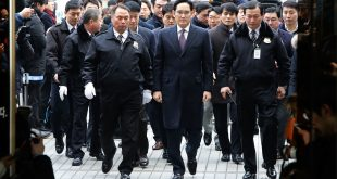 Jay Y. Lee, vice chairman of Samsung, arrives at the Seoul Central District Court on January 18. A judge said there wasn't enough evidence for his arrest on bribery charges.