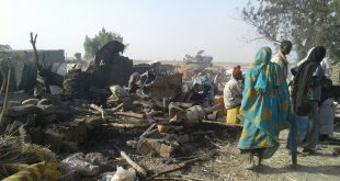 The aftermath of a bombing by the Nigerian military at an internally displaced person camps in Rann, Nigeria.