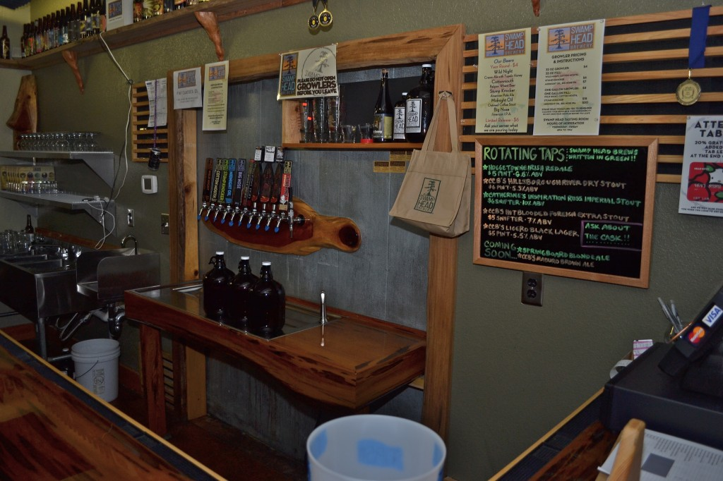 Swamp Head beer tasting room