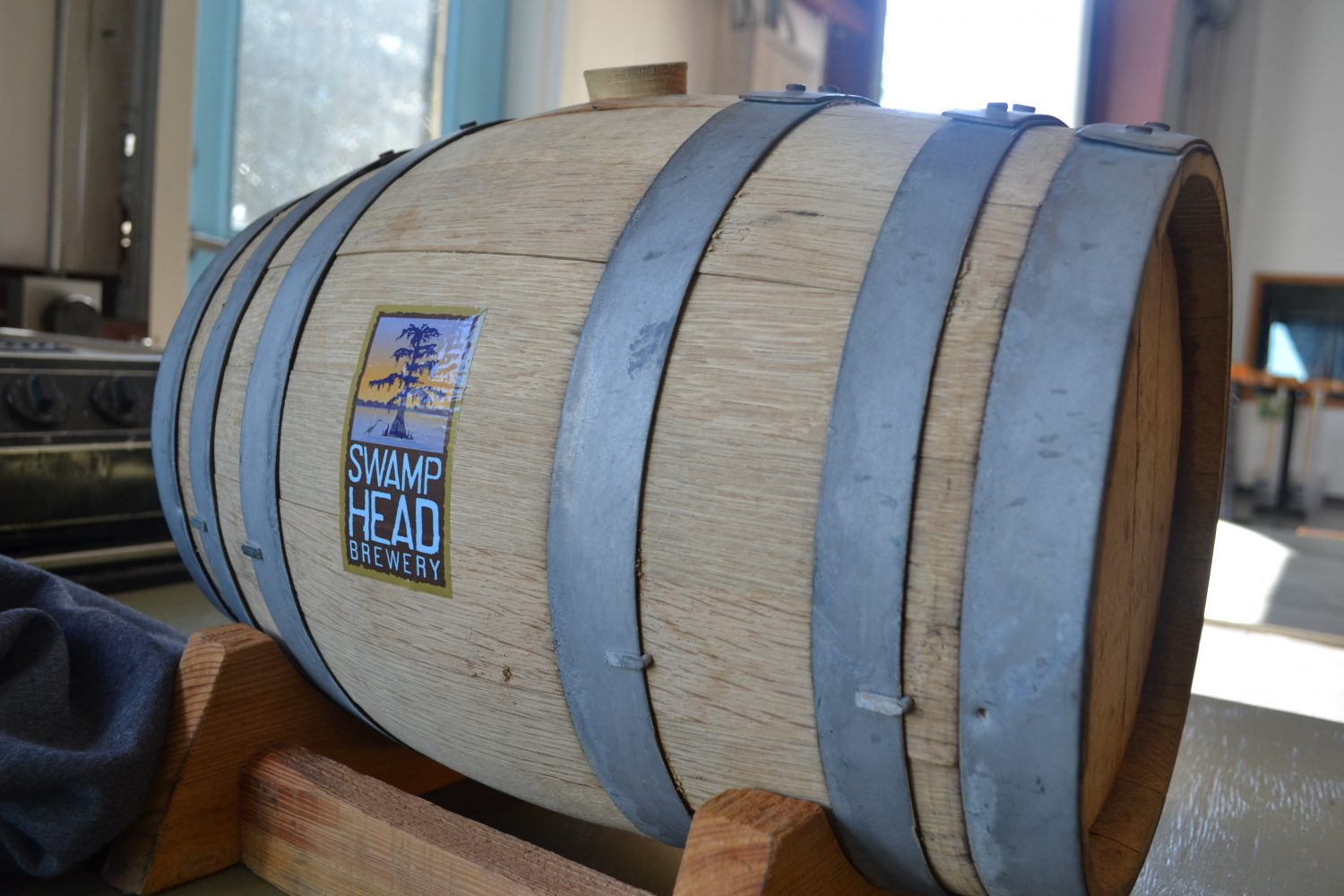 Barrel of locally crafted beer) at Swamp Head Brewery in Gainesville (photo by Chris Gilmore)