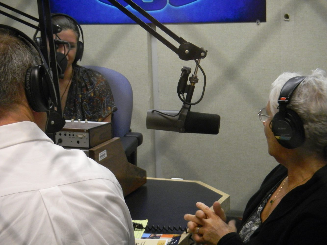 Heart Phoenix being interviewed by WUFT-FM's Kelsey Diaz