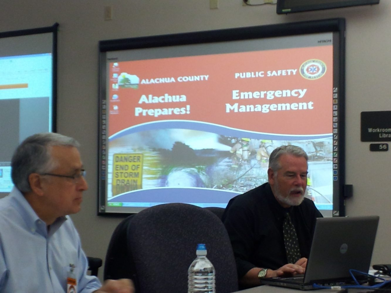 "Alachua County agencies begin a two-day ""mock disaster drill"" (photos by Lauren Rautenkranz)"