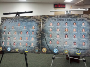 "Suspects pictured at a press conference updating Operation ""Blue Forest"" at the Marion County Sheriff's Office"