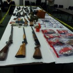 "Items seized during Operation ""Blue Forest"""