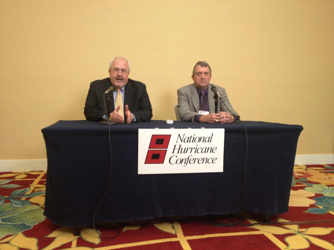 FEMA Director Craig Fugate and National Hurricane Center Director Bill Read (photo by Jeff Huffman)