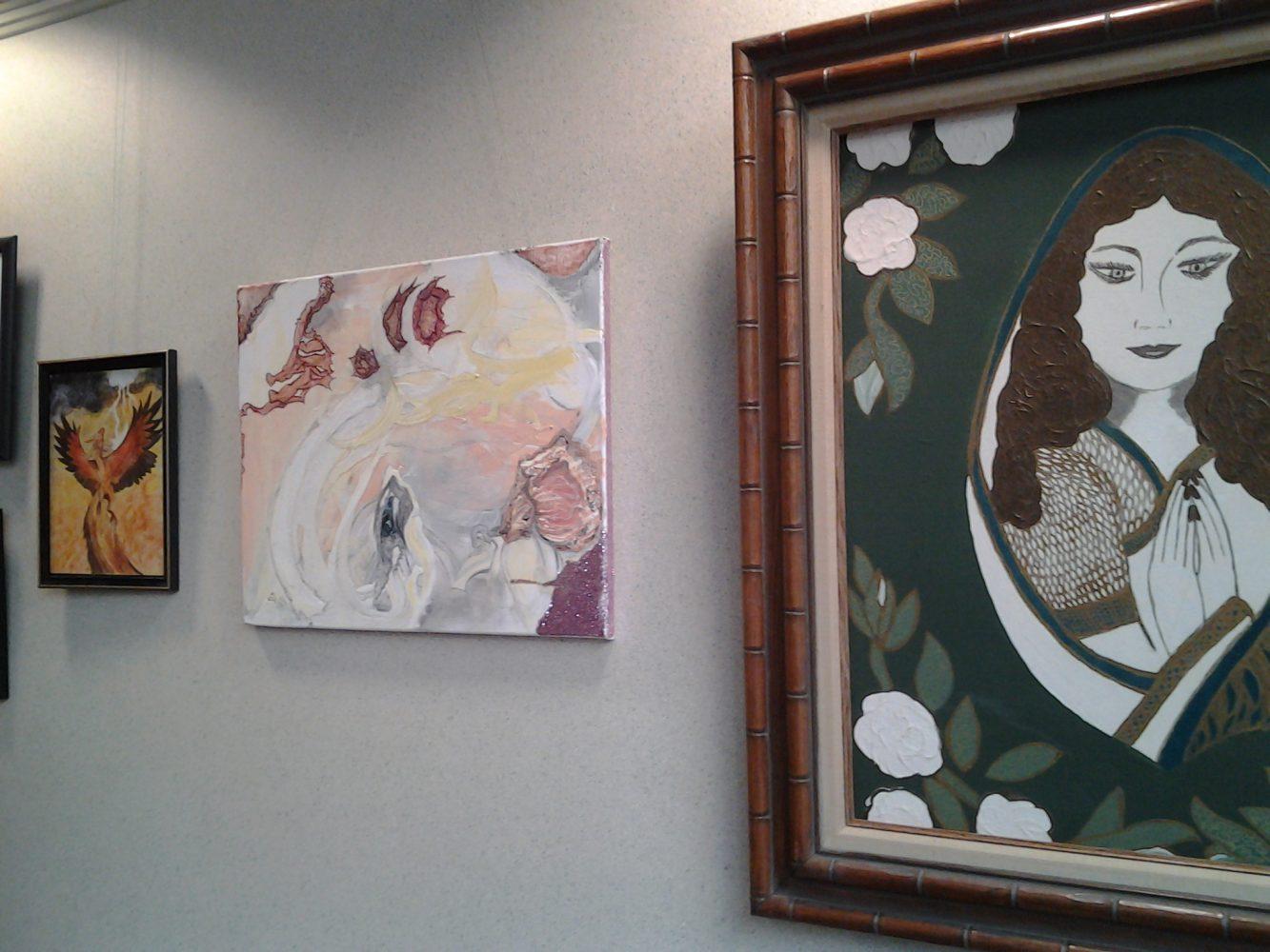 Artwork on display as part of the Survivor's Art Exhibit.