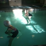 Seniors exercising in the heated pool at Gainesville Health and Fitness