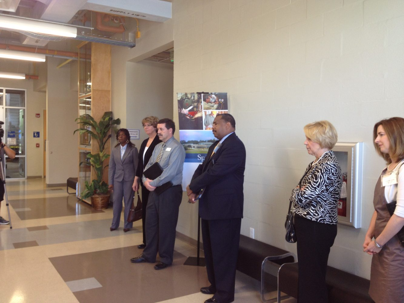 New Chancellor for the FL Department of Education, Rod Duckworth touring the SFC Perry Construction Institute.