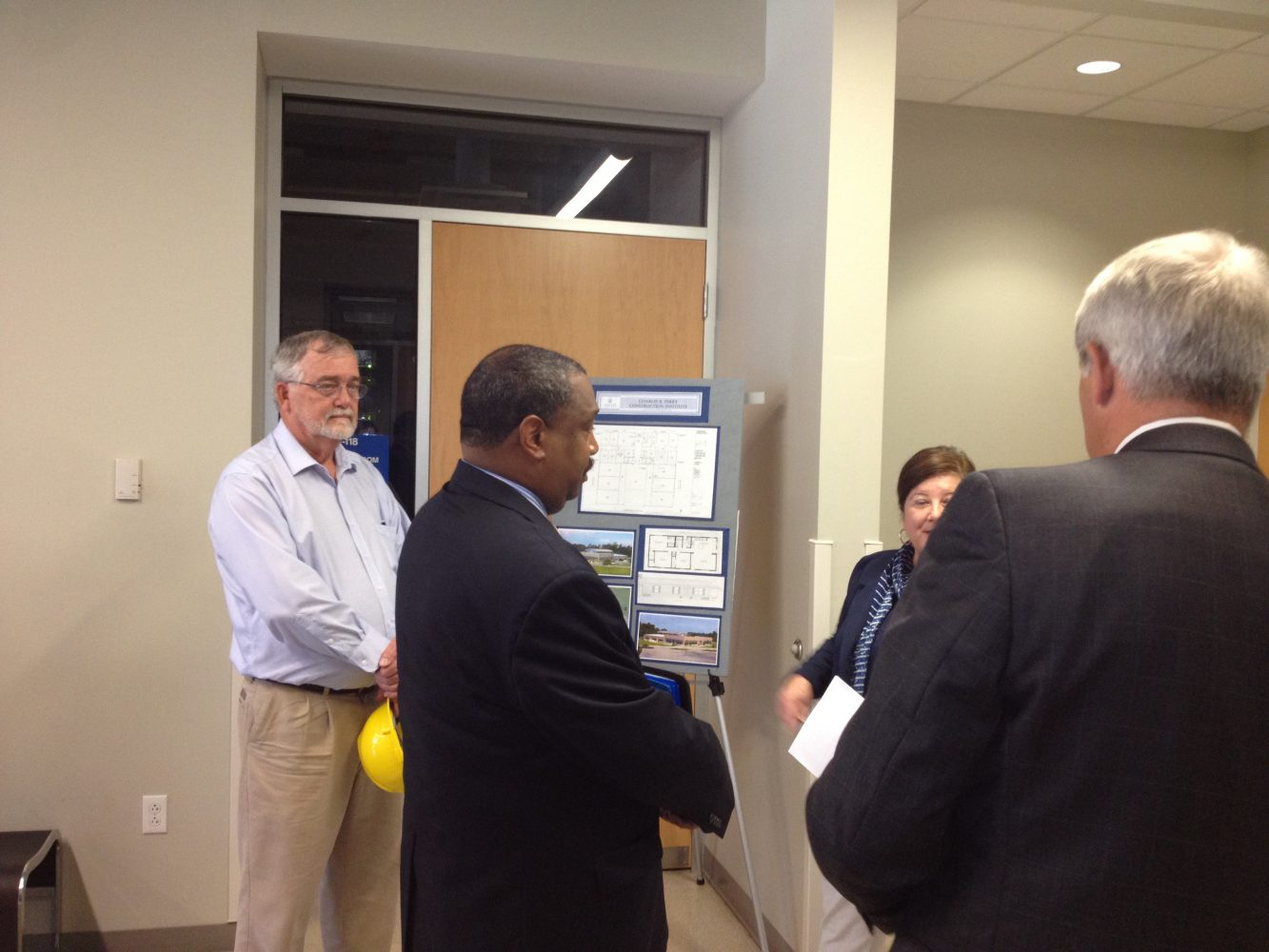 Chancellor for the FL Department of Education Rod Duckworth touring facilities at SFC on Tuesday.