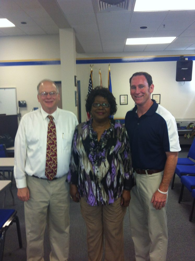 Members Of The Ocala Racial Harmony Taskforce From Left To Right Sonny Allen Mary Rich And Stan Creel CreditDina Lewis WUFT FM