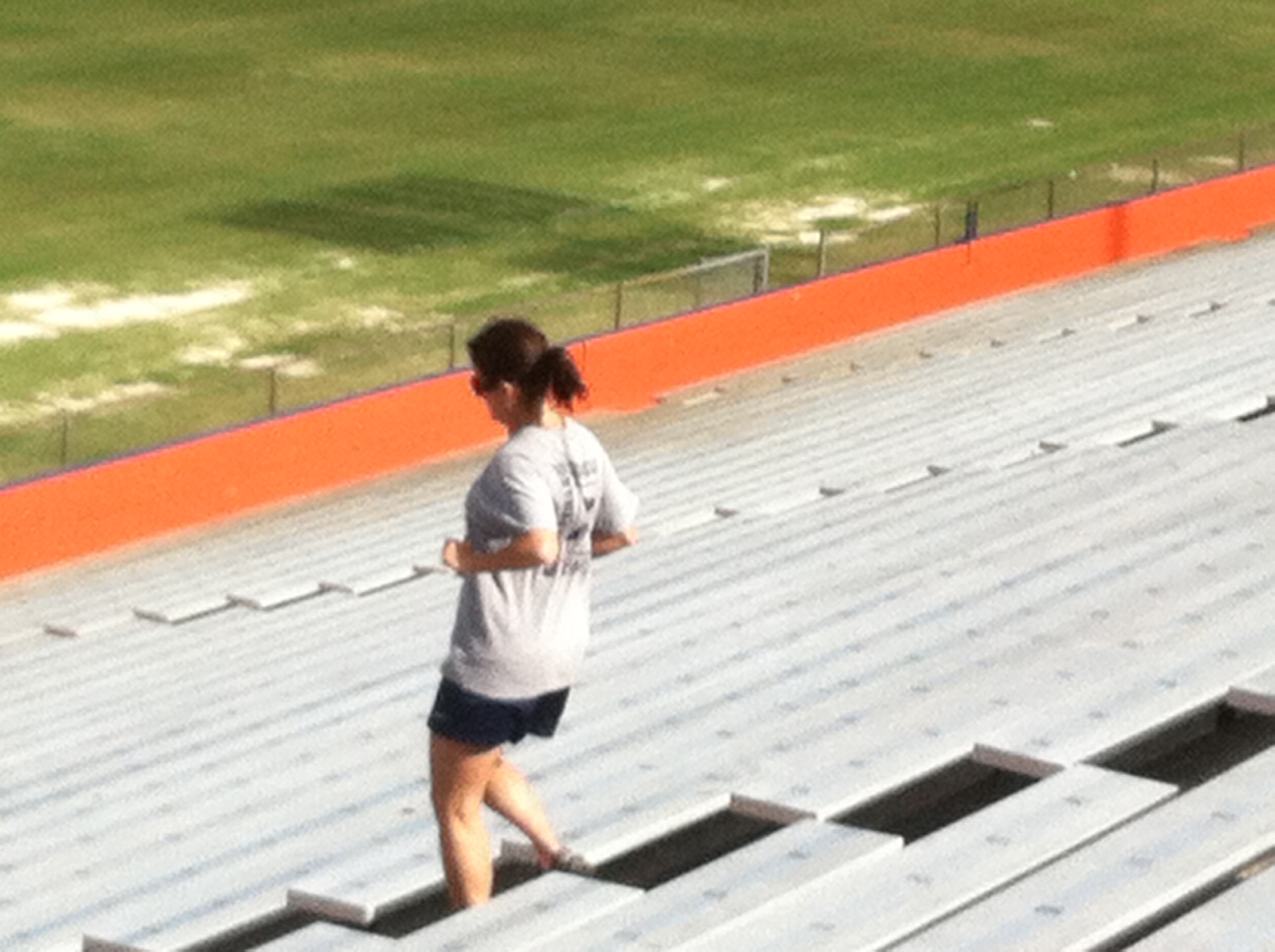 """Students run """"stadiums"""" to stay in shape"""