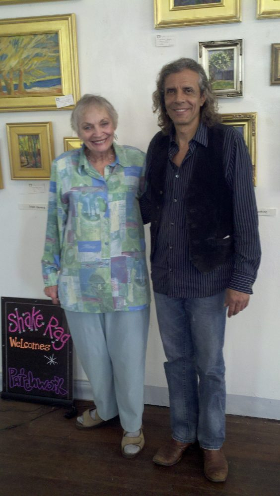 June Beverly, President of the Shake Rag Art & Culture Center with the Joseph Saccocci, Music Director of the Center.