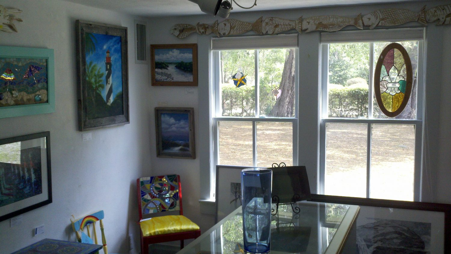 One of the room displaying artwork at Shake Rag Art & Culture Center.