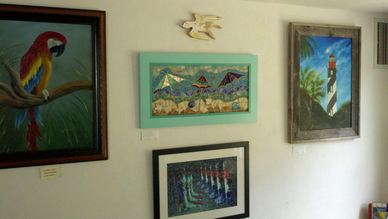Art exhibited in Shake Rag Art & Culture Center.