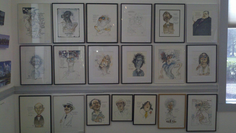 Artwork displayed in the Shake Rag Art & Culture Center in Melrose, FL.