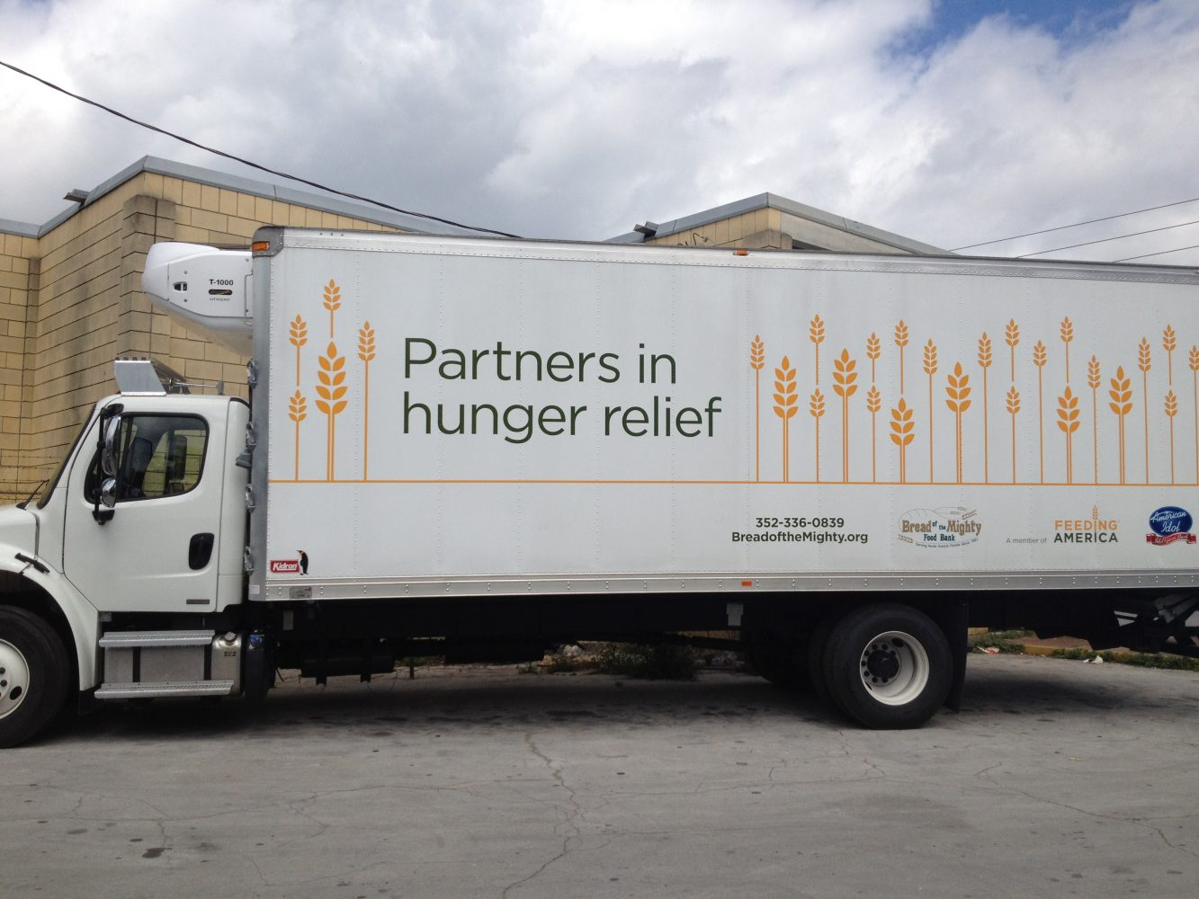 Bread of the Mighty hits the road to pick up and distribute donations in this custom truck