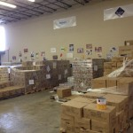 Bread of the Mighty warehouse where donations are sorted and stored
