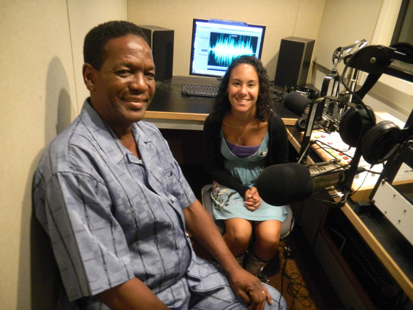 Little Jake Mitchell with Florida's 89.1, WUFT-FM's Liana Charles.