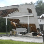 Heavy rain causes roof to collapse on Micanopy building