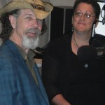 Veteran blues guitarist Walter Parks with Florida's 89.1, WUFT-FM's Donna Green-Townsend.