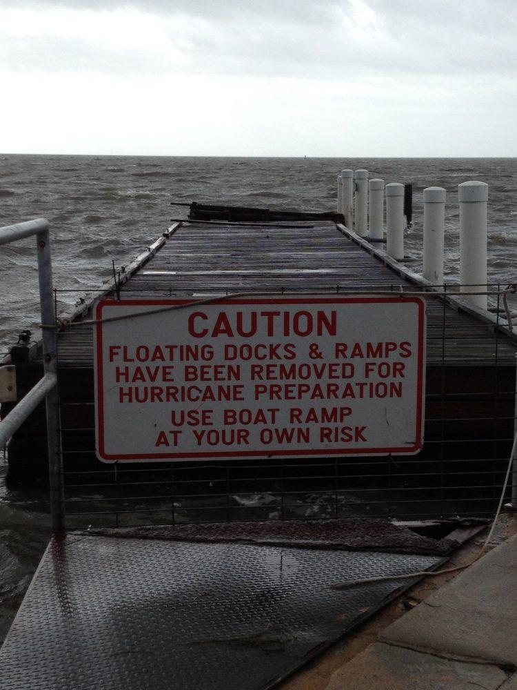 Sign on Cedar Key ramp