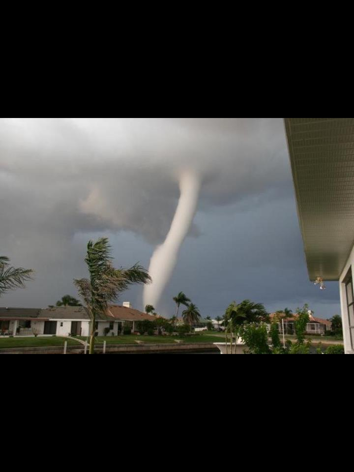 Water spout spotted off Country Club Road in Polk County.