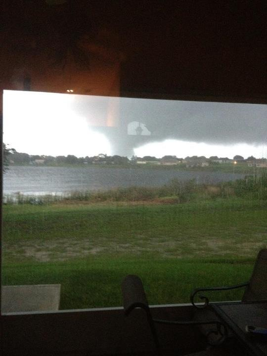 Tornado spotted by residents in Polk County across Lake Winterset